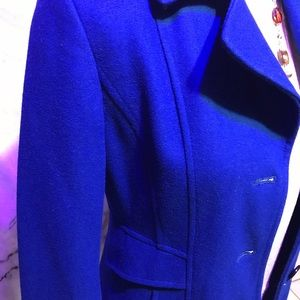 Giacca Gallery royal blue wool trench coat, size M